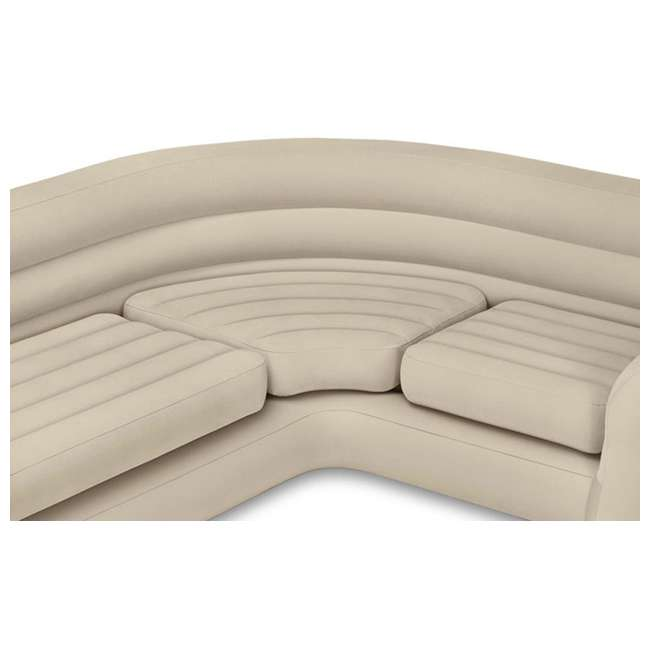 68575EP + 66639E Intex Inflatable Corner Sectional Sofa Intex 120V Quick Fill AC Electric Air Pump with 3 Nozzles 1