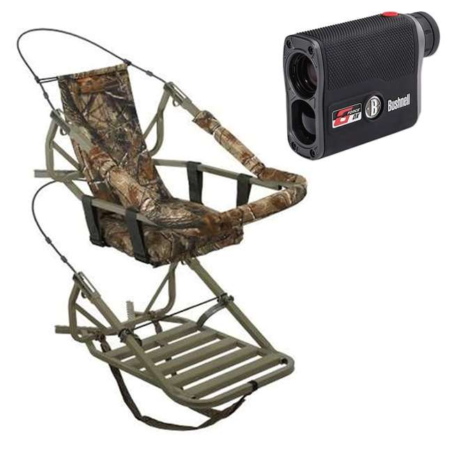 81052-VIPCLASSIC + BSHN-202460 Summit Viper Classic Treestand & Bushnell G Force DX Rangefinder, Black