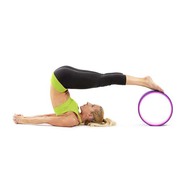 ps-1071-yw-purple/pink Prosource Fit 12 Inch Yoga Wheel Prop Exercise Fitness Equipment, Purple/Pink 4
