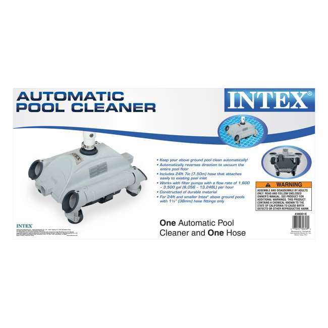 26651EG + 28001E Intex Pool Sand Filter Pump and Automatic Pool Vacuum 9