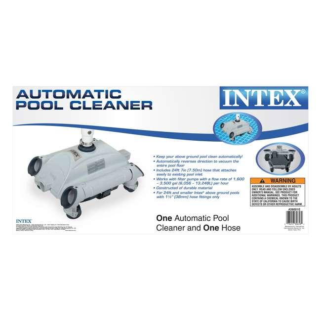 26651EG + 2 x 28001E Intex 3000 GPH Above Ground Pool Sand Filter Pump & Intex Pool vacuum Cleaner 9