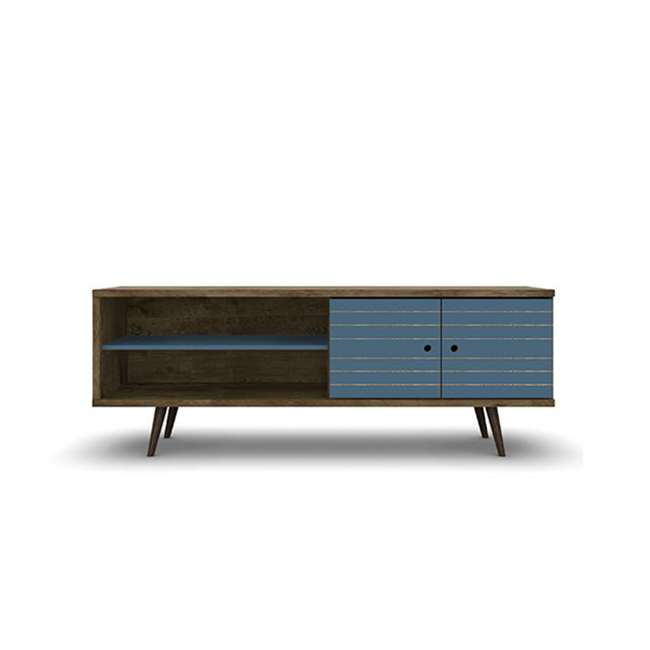 201AMC93 Manhattan Comfort Liberty 62.99 Inch Mid Century Modern Wood TV Stand with Legs