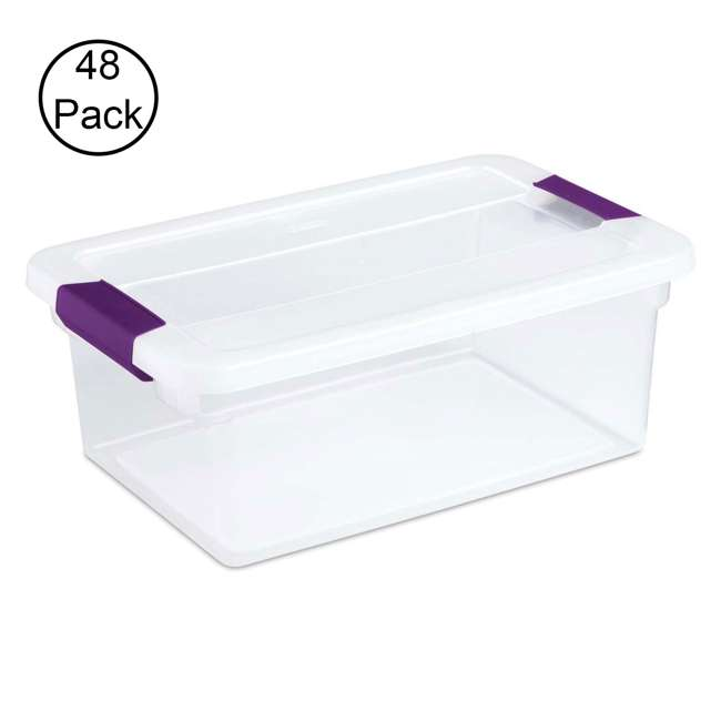 48 x 17531712 Sterilite 15-Quart ClearView Latch Box (48 Pack)