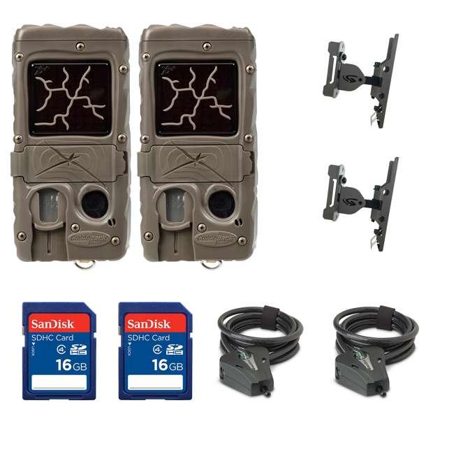 2xG-5017-CL-DUAL+2xSD4-16GB+2x3488-GENIUS-PT+2xSTC Cuddeback Game Camera (2pk) + SD Card (2pk) + Mount (2pk) + Security Cable (2pk)