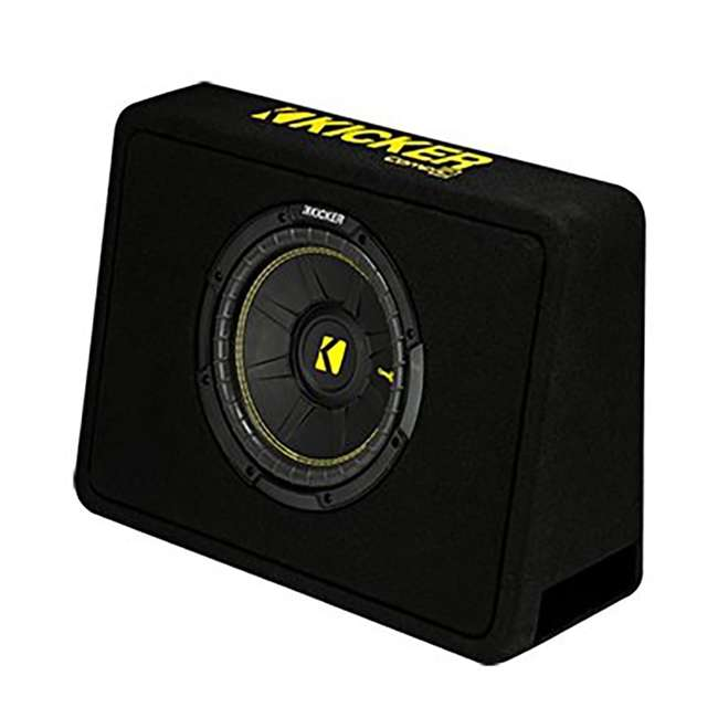 44TCWC104 + R1100M + AKS8 Kicker 44TCWC104 10-Inch 600W /Truck Subwoofer with Box with Amplifier with 8 Gauge Amp Kit 1