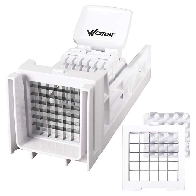 36-3301-W Weston Ratchet Style French Fry Cutter and Vegetable Dicer 7
