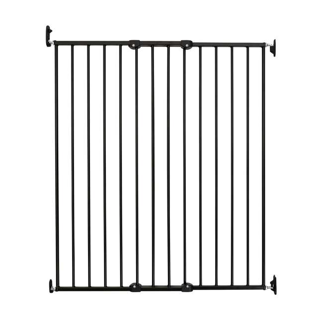 BBD-57616-2600 BabyDan 57616 Streamline Extra Tall 42 Inch Wall Mounted Pet Safety Gate, Black