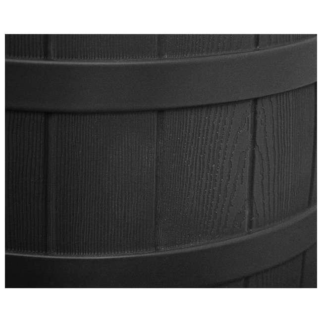 RW50-DIV-BLK Good Ideas Rain Wizard Rain Collection Barrel 50-Gallon w/ Diverter Kit, Black 4