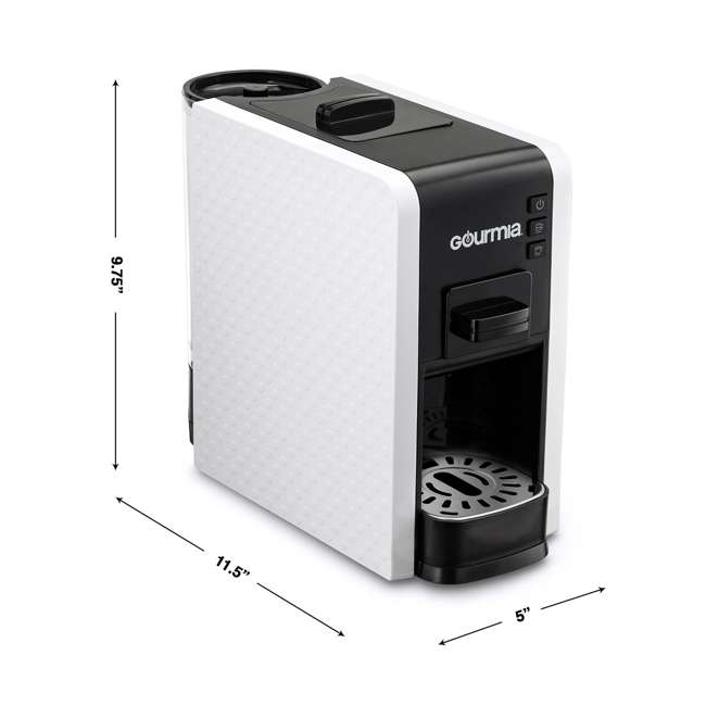 GCM7000W Gourmia 2 Touch Automated 1 Serve Multi Capsule Coffee and Espresso Machine, White 5