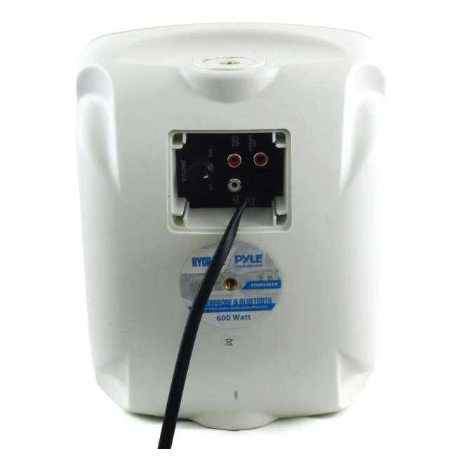 PDWR54BTW Pyle PDWR54BTW Bluetooth 600W Waterproof 5.25-Inch Powered Outdoor Speakers (Pair) 1