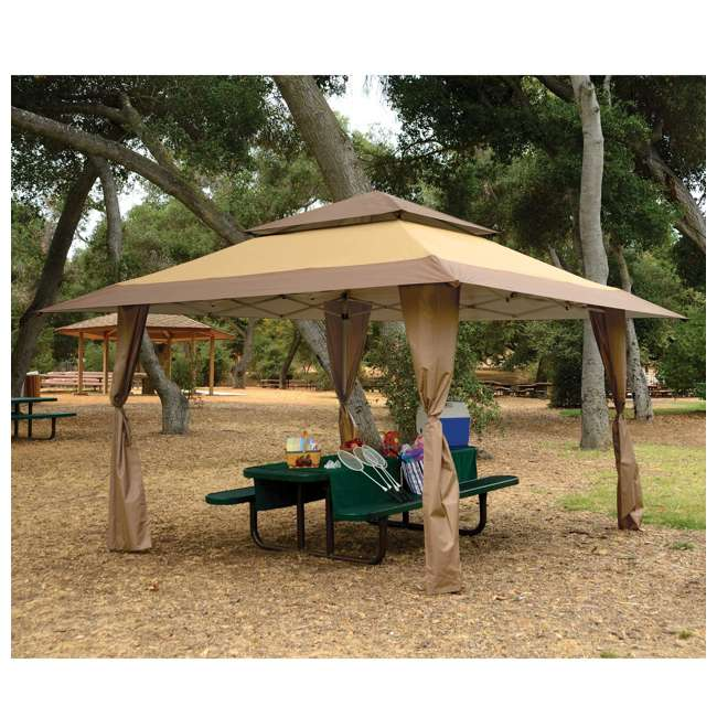 ZSB13GAZTB-U-A Z-Shade 13 x 13 Instant Canopy Outdoor Shelter Tan Brown (Open Box) (2 Pack) 4