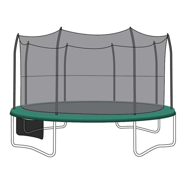 N1-1528100000-U-B SkyBound Net for 15 Ft Trampoline with 8 Straight-Curved Enclosure Poles (Used) 2