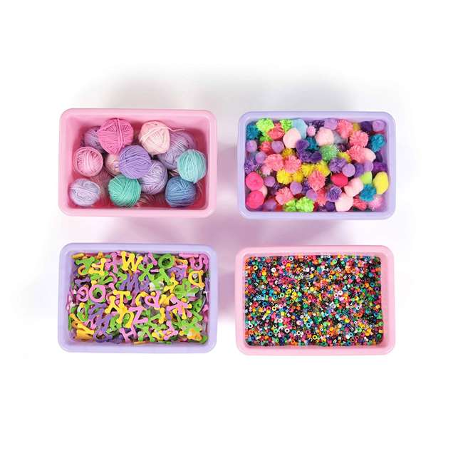 SM098 + SM111 Tot Tutors Plastic Storage Container Bins, Pink/Purple & Blue/Teal (Set of 8) 4