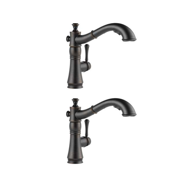 4197-RB-DST Delta Cassidy Single Handle Pull-Out Faucet, Bronze (2 Pack)