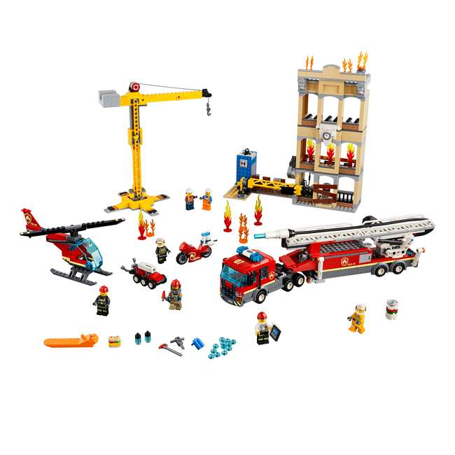 6251474 LEGO City 60216 Downtown Fire Brigade Block Building Kit with 7 Minifigures 1