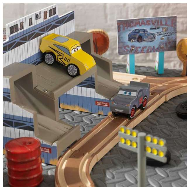 KDK-18015-U-A Kidkraft Disney Pixar Cars 3 50 Piece Thomasville Speedway Track Set (Open Box) 4