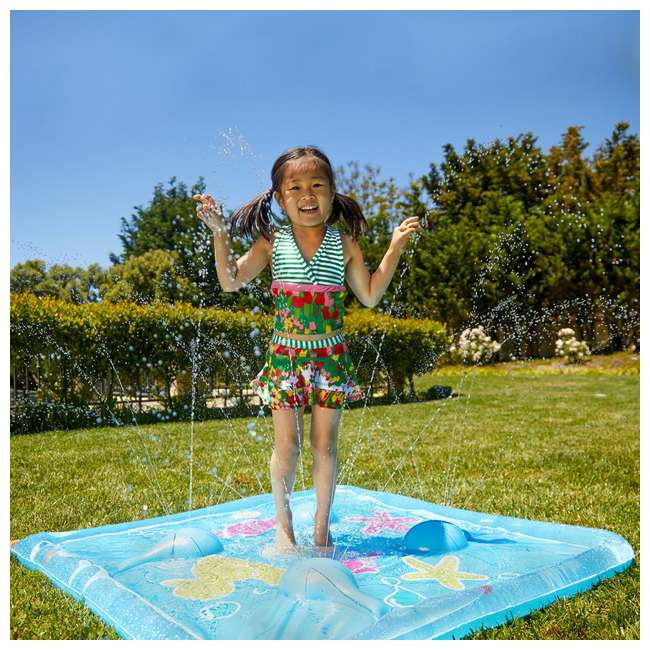 WMO-61850 Wham-O Backyard Sea Creature Printed Children's Splash Pad with Inflatable Rim 3