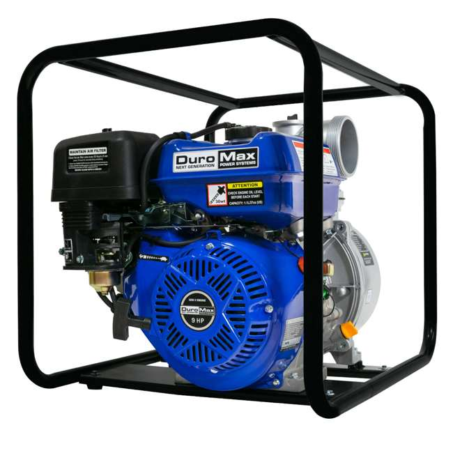 XP904WP DuroMax 9 HP 427 GPM 3,600 RPM 4-Inch Portable Water Pump (2 Pack) 1