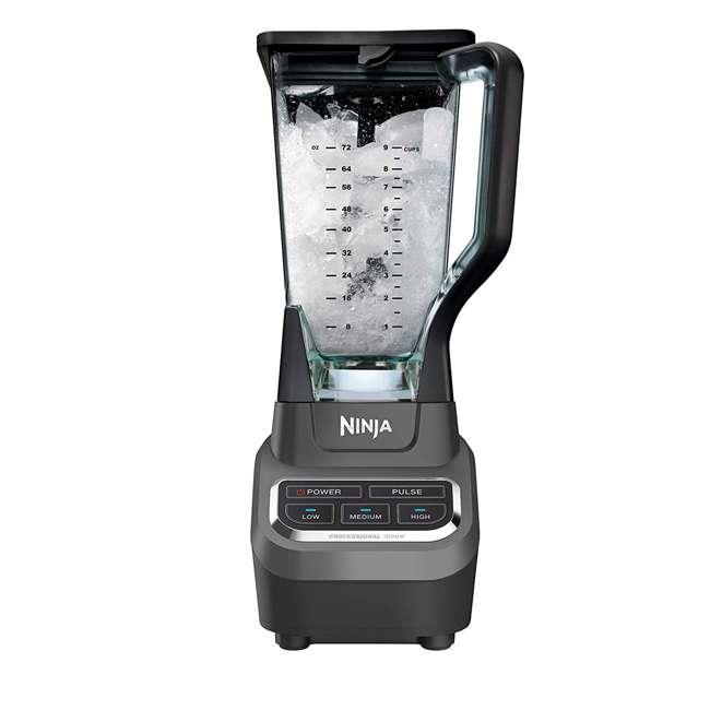 BL710WM_EGB-RB Ninja BL710WM Professional 72 Ounce Countertop Blender w/ 1000 Watt Base, Black 2