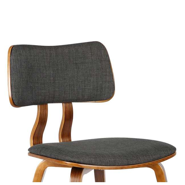 LCJASIWACH Armen Living Jaguar Mid-Century Dining Chair in Walnut Wood and Charcoal Fabric 5