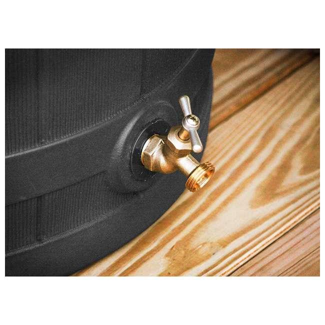 RW50-DIV-BLK Good Ideas Rain Wizard Rain Collection Barrel 50-Gallon w/ Diverter Kit, Black 5