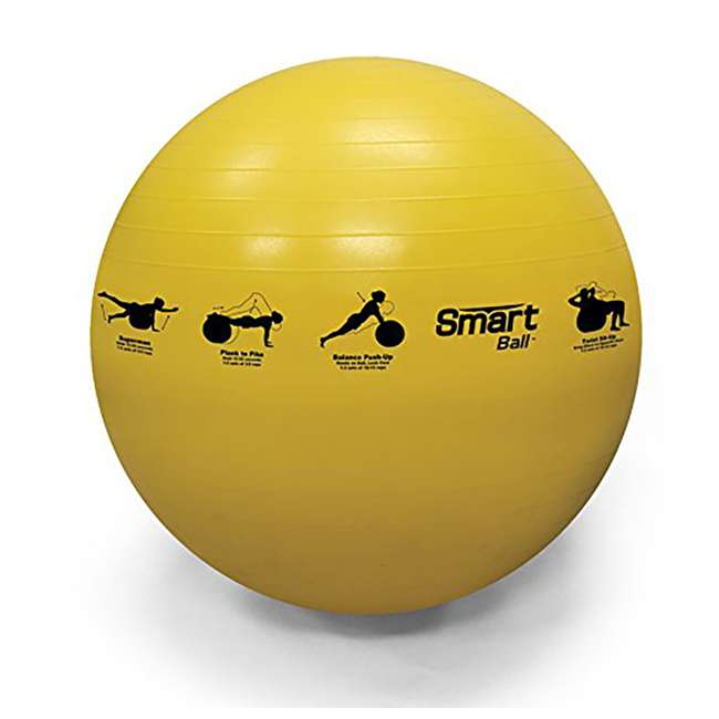 400-150-010 Prism Fitness 55cm Smart Self-Guided Stability Exercise Medicine Ball, Yellow