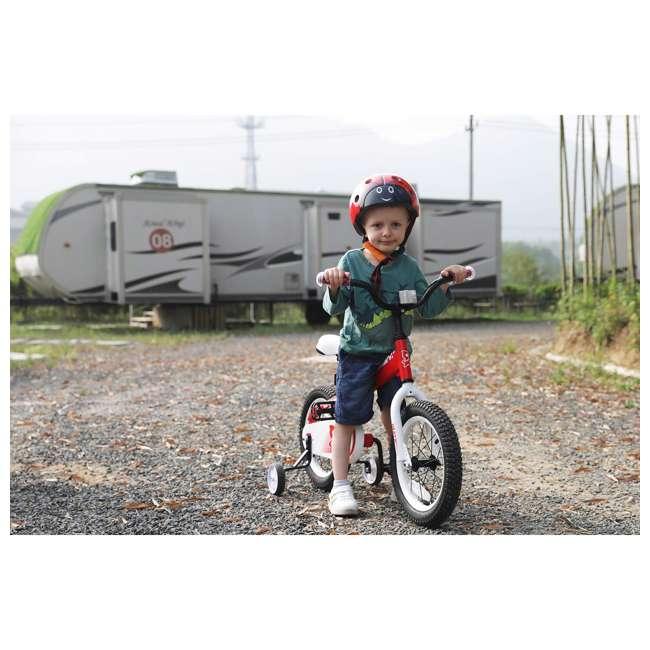 BIKE029rd-16 JOYSTAR Whizz Series 16-Inch Ride On Kids Bike with Training Wheels, Red & White 4