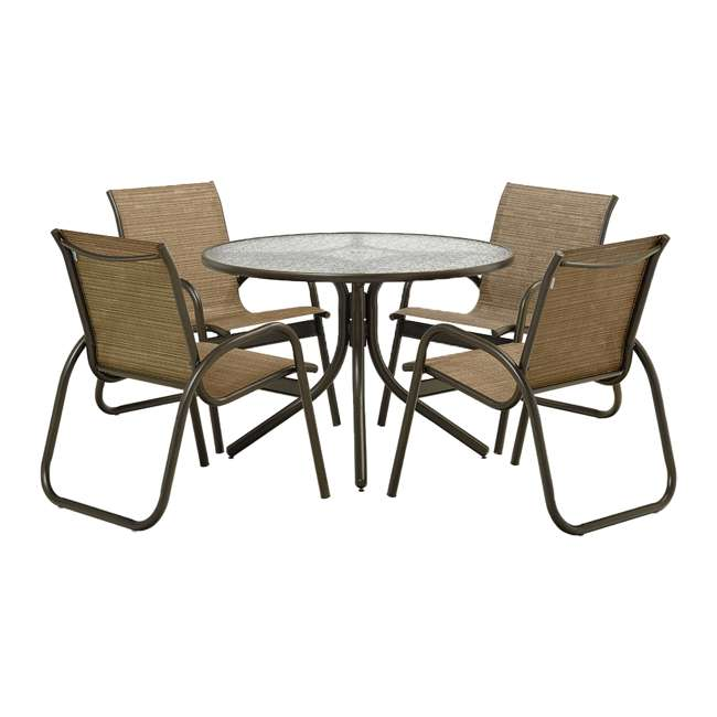 SET01001 Telescope Casual 5 Piece 42-Inch Gardenella Dining Set, Bark