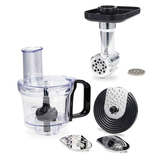 GMMN + GMFP Geek Chef Stand Mixer 2.6 Qt. Food Processor Chopper & Meat Grinder Attachments