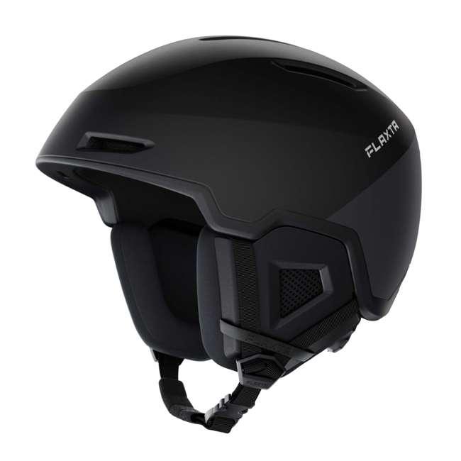 FX901101071LXL Flaxta Exalted Protective Ski and Snowboard Full Helmet Large/XL Size, Black