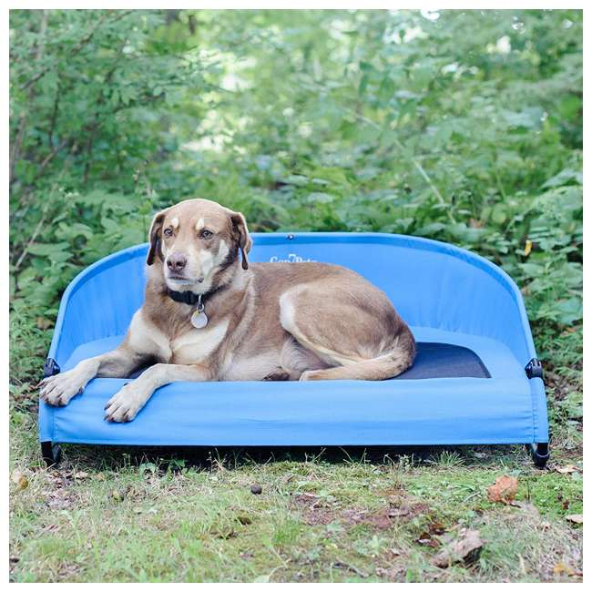 G3336TB Gen7Pets G3336TB Trailblazer Cool-Air Mesh Waterproof Cot Bed for Dogs, Blue 4