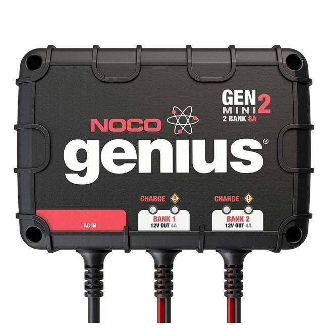 GENM2 Noco Genius GENM2 2 Bank 8 Amp On Board Battery Charger 4