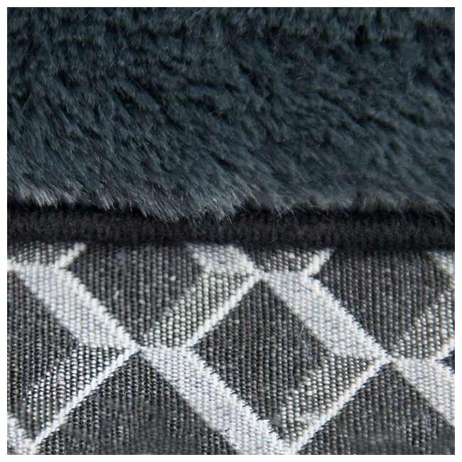 46536257BX Furhaven 46536257BX Jumbo Plush Faux Fur Orthopedic Sofa Pet Bed, Diamond Gray 4