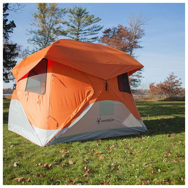 GAZL-22272 Gazelle T4 94 x 94-Inch 4-Person Pop-Up Camping Hub Tent 2