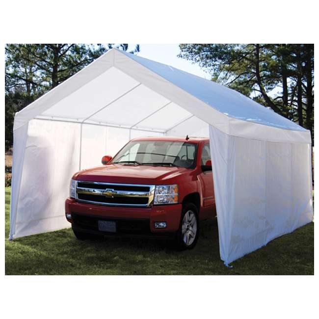 Garage Canopy Attachments : Port canopy gazebo tent cover c pc w