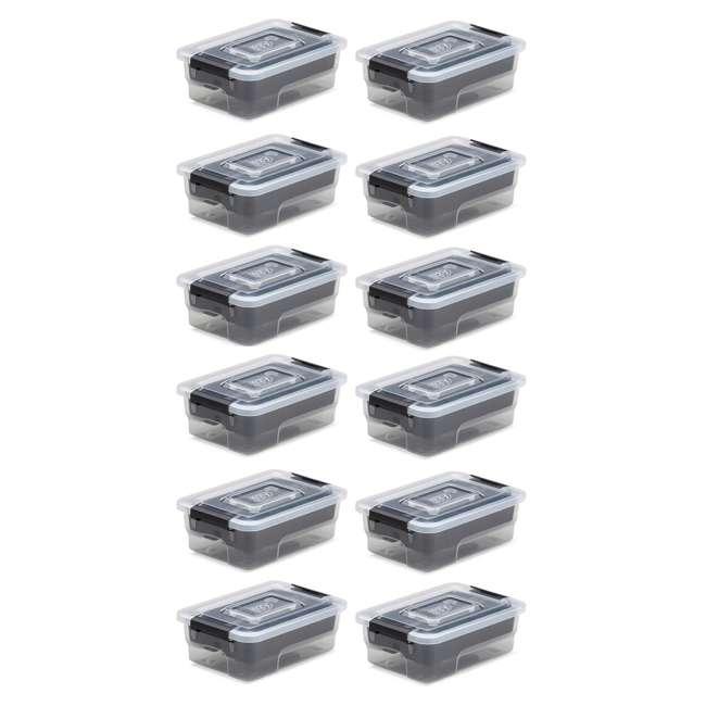 12 x FBA32232 Ezy Storage Sort It 1.5 Quart BPA Free Plastic Stacking w/ Insert Tray (12 Pack)