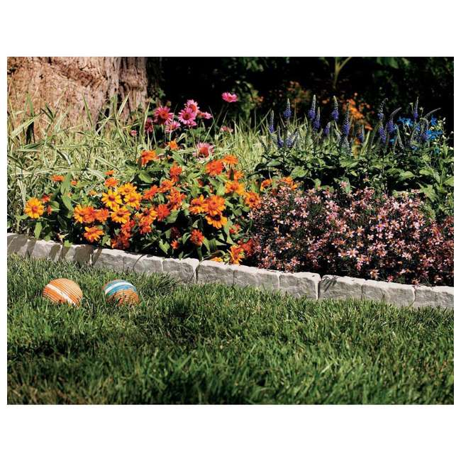 8 x CPLBSE10TG-U-A Suncast Landscape Design Border Natural Rock Stone Edging (Open Box) (8 Pack) 1