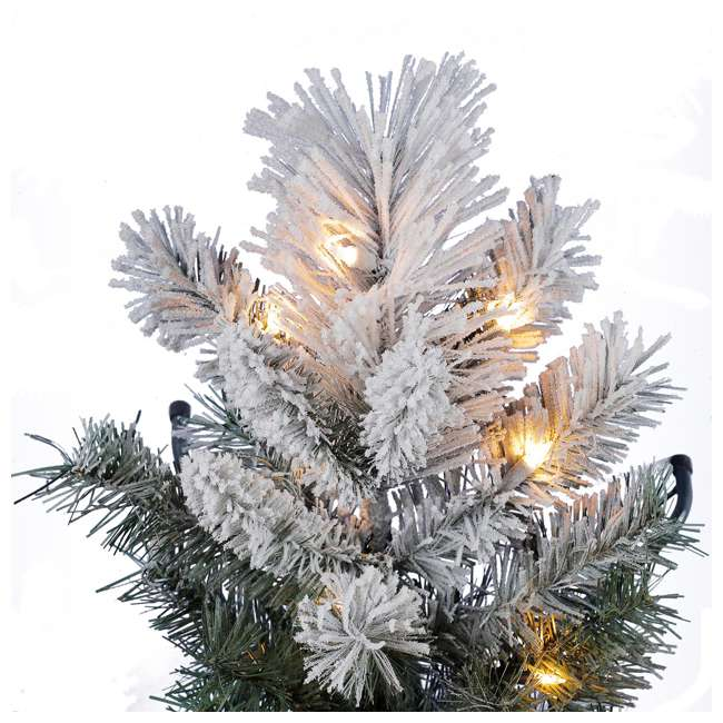 TG76M4E42S20 + GX1623U22F27 Home Heritage Snowdrift Spruce 7.5' Pre Lit Christmas Tree with Rotating Stand 3