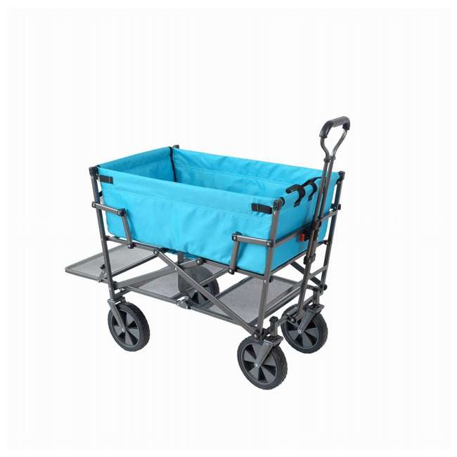 MAC-DD-107-BLUE Mac Sports Double-Decker Collapsible Yard Cart, Blue (2 Pack) 1
