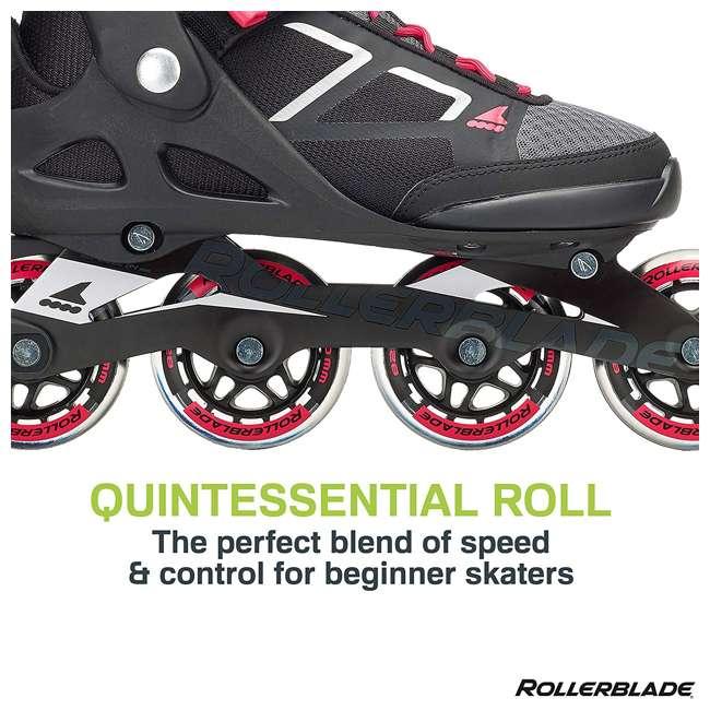 07847100956-8 Rollerblade Macroblade 80 Mens Adult Performance Inline Skates, Orange and Black 6
