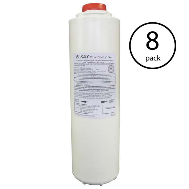 8 x 51300C Elkay 51300C WaterSentry Plus Filter for EZH2O Water Filling Station (8 Pack)