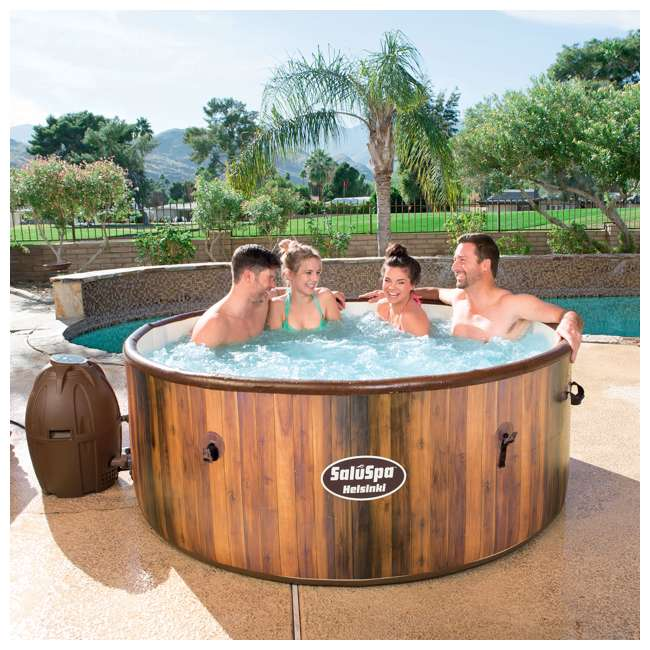 54190E-BW Bestway SaluSpa Helsinki AirJet 7 Person Inflatable Spa Hot Tub w/ Pump (2 Pack) 3