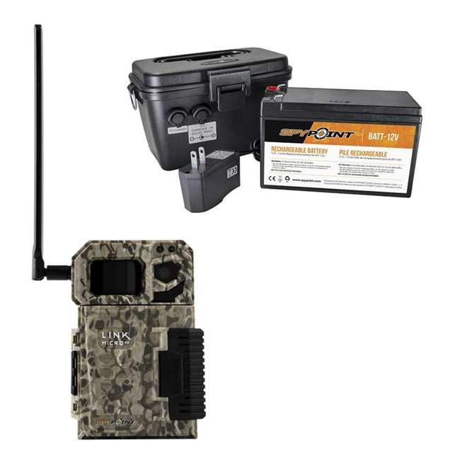 MICROUS + BATT SPYPOINT LINK MICRO Nationwide Cellular Hunting Trail Game Camera & Battery