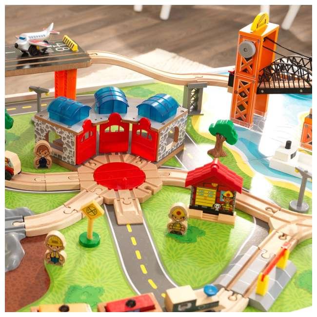 KDK-18012 KidKraft 18012 Railway Express Kid Toddler Wooden 79 Piece Toy Train Set & Table 3