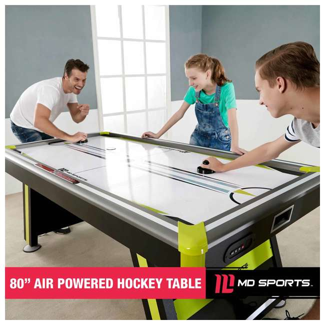 AWH080_037M MD Sports Air Powered 80 x 42-Inch 2 Player Air Hockey Table w Electronic Scorer 7