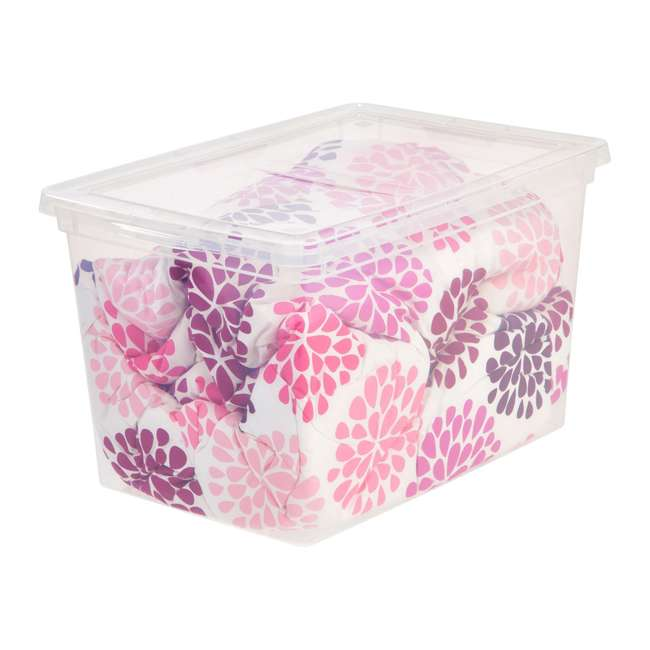 586875-6PK IRIS USA Extra Large Hard Plastic Stackable Closet Clear Storage Bin (12 Pack) 3