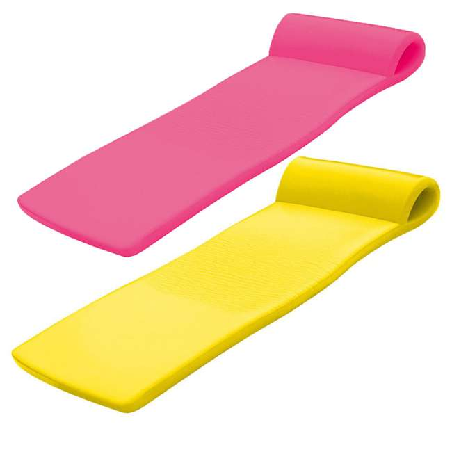 8020035 + 8020012 TRC Recreation Super Soft Sunsation Foam Pool Float Loungers, Pink and Yellow