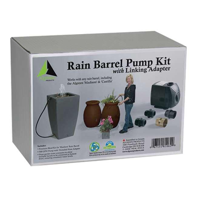 ALG-81062-U-B Algreen Rain Water Collection Barrel 500GPH Garden Watering System Pump (Used) 2