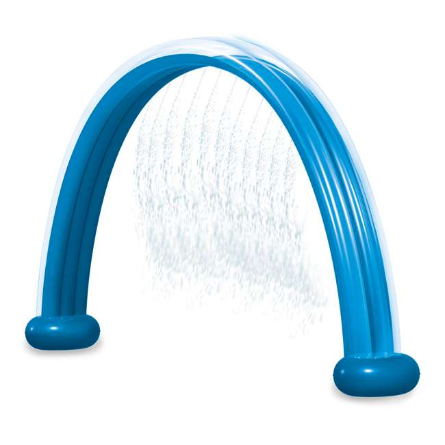 WMO-61394 Wham-O Inflatable Outdoor Water Giggle 'N Splash Rainbow Arch Sprinkler, Blue