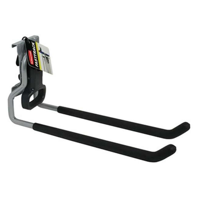 1784459 Rubbermaid 1784459 Fast Track Wall Mounted Garage Storage Utility Multi Hook